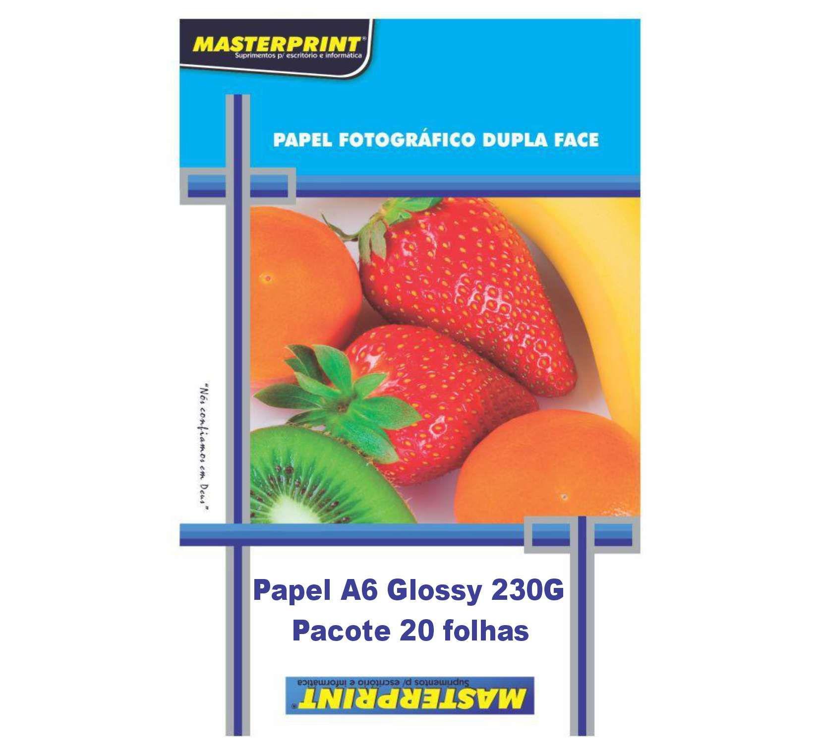Fotográfico A6 Glossy 230G 20 folhas