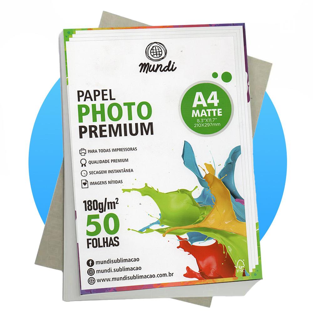 Papel A4 Fotográfico Matte Fosco 180G MUNDI 50 FLS