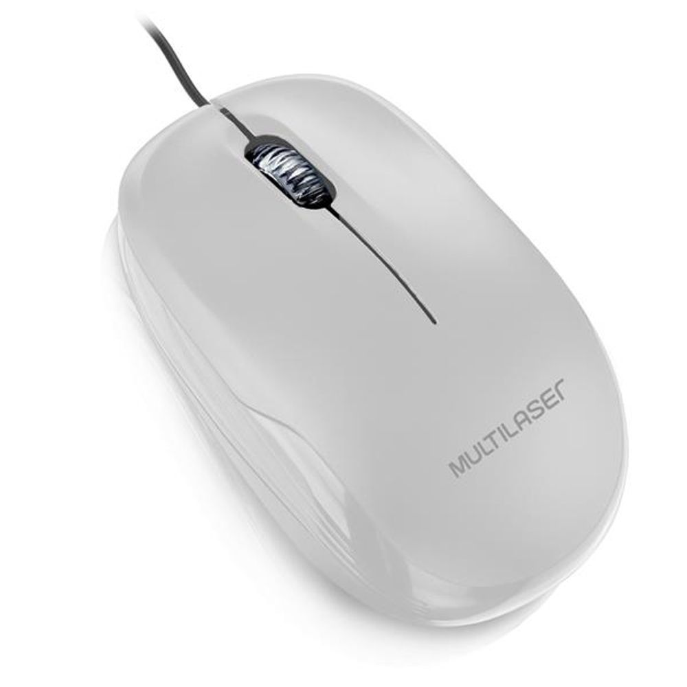 Mouse Box Óptico 1200Dpi Usb Branco - MO294