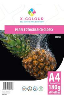 Papel A4 180G Fotográfico Glossy X COLOUR 50 Folhas