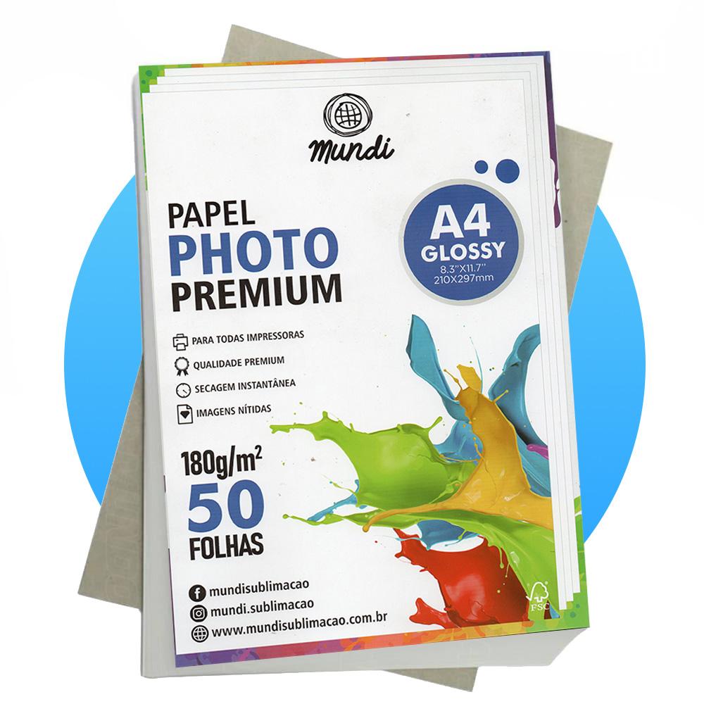 Papel A4 Fotográfico Glossy 180G MUNDI 50 FLS
