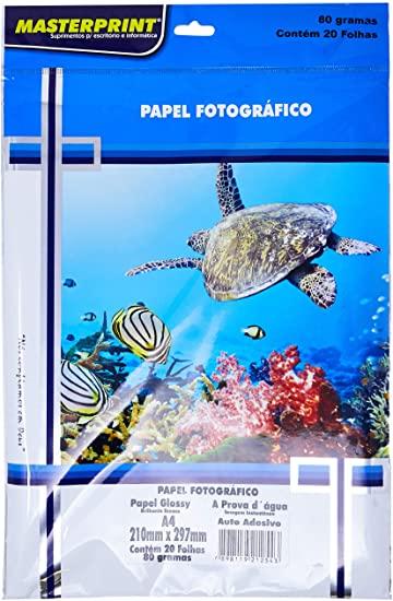 Filme Adesivo Transparente A4 150g 50 Folhas Masterprint