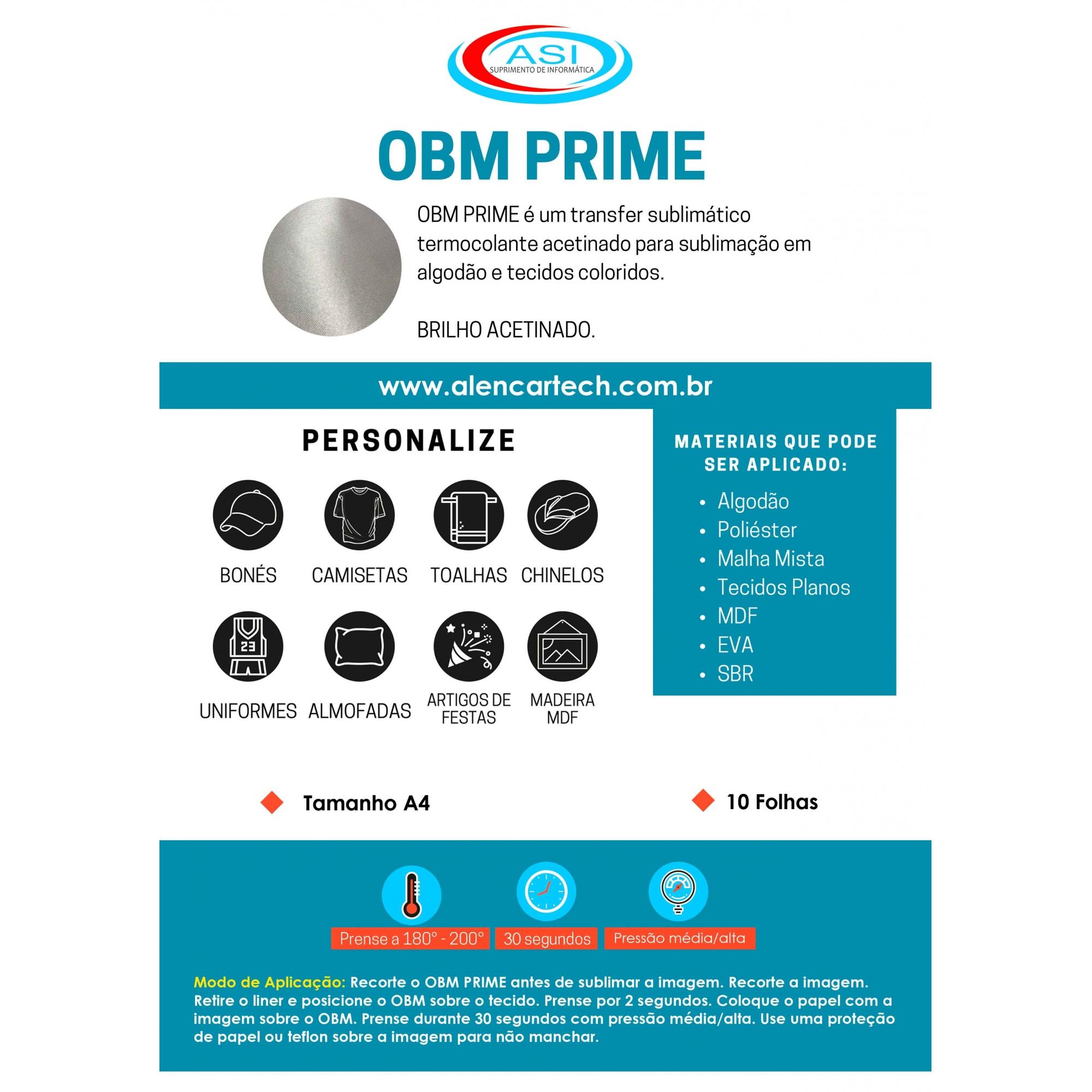 Papel OBM Prime 10 Folhas