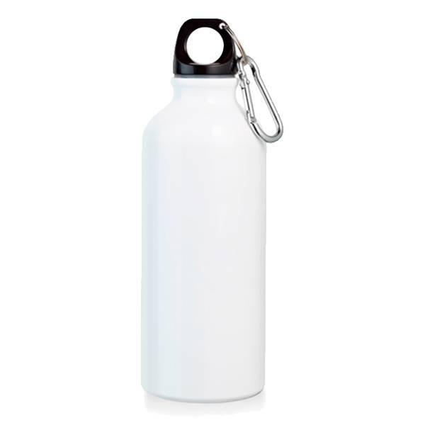 Squeeze Alumínio Branco 500ML MOSQUETÃO