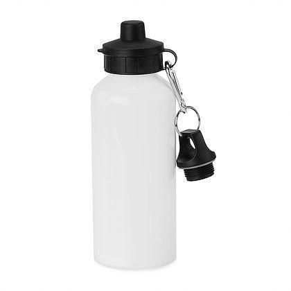 Squeeze Alumínio Branco DUAS TAMPAS 600ML - PREMIUM