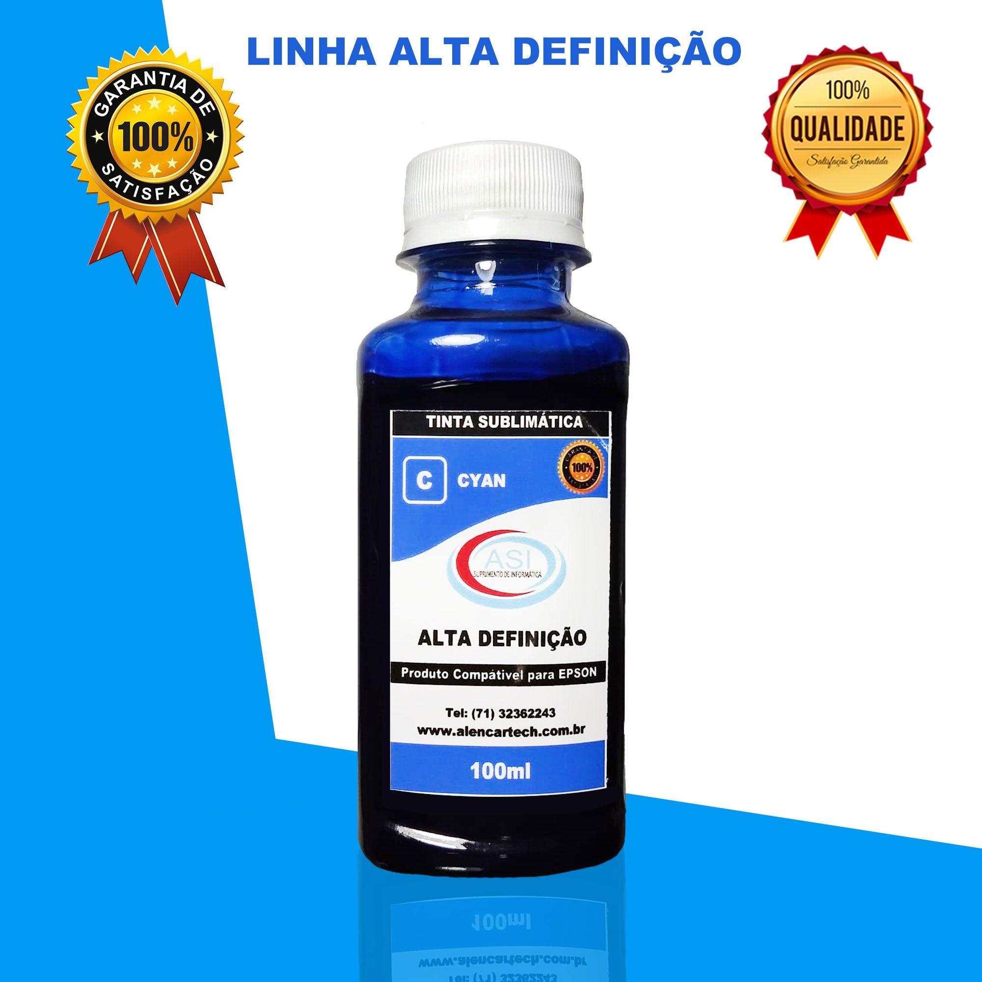 Sublimática Alta Definição  Ciano 100ML/500ML/1LITRO