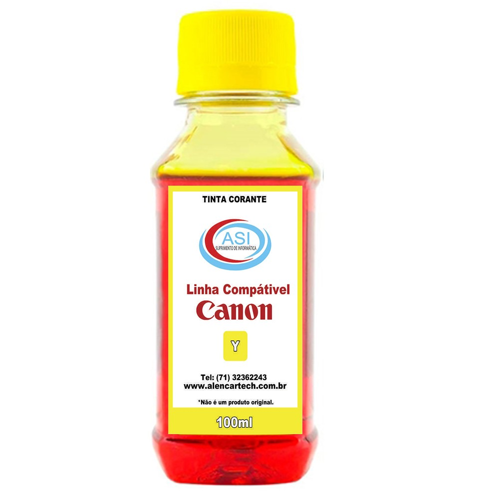 Tinta Corante Canon ASI Yellow 100ML