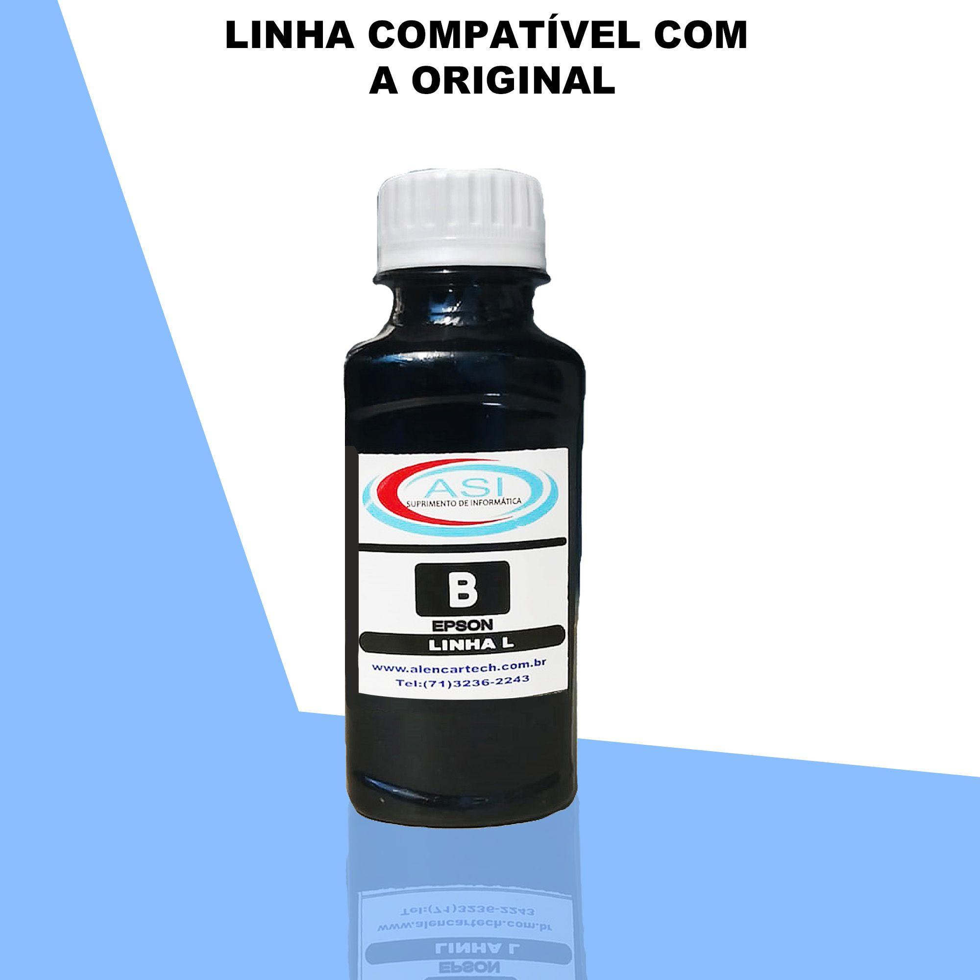 Tinta Linha L Eco Tank ASI  Black 100ML/500ML/1LITRO
