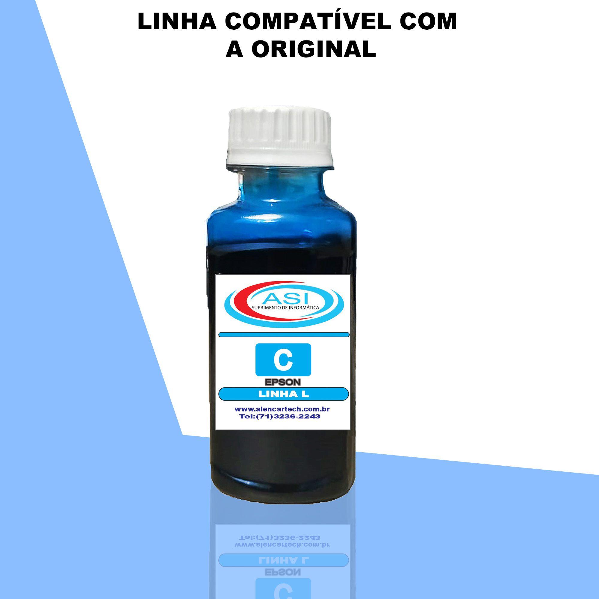 Tinta Linha L Eco Tank ASI  Ciano 100ML/500ML/1LITRO