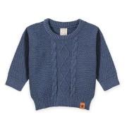 Blusa Bebê em Tricô Menino Azul Jeans