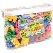 Brinquedo Educativo Conectando as Formas com 150 Peças Colorido