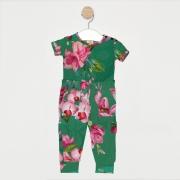 Conjunto 2 Peças Bebê Floral Verde Bandeira