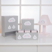 Kit de Higiene Bebê com 7 Peças Chuva de Amor Rosa