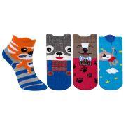 Kit Meias Infantil 4 Pares Fun Socks Menino