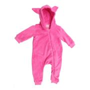 Macacão Bebê em Soft Fleece Menina Pink