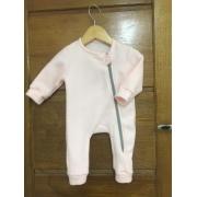Macacão Bebê em Soft Fleece Menina Rosa