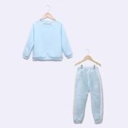 Pijama Infantil em Soft Fleece Azul