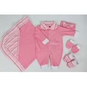 Saída da Maternidade com 5 Peças Menina Basic Pink