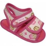 Sandália Infantil Menina Cupcake com Duplo Velcro Rosa