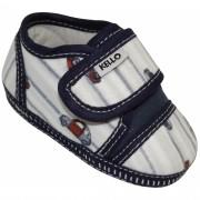Sapato Infantil Menino Carrinhos com Velcro Azul Marinho
