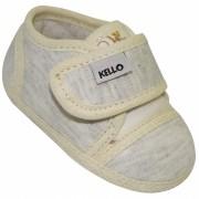 Sapato Infantil Menino com Velcro Cinza Mescla