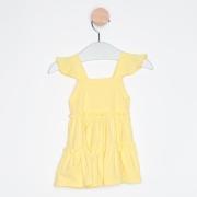 Vestido Bebê Babados Amarelo Claro