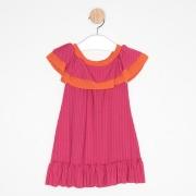 Vestido Bebê Ciganinha Pink e Laranja