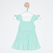 Vestido Bebê Infantil Babados Azul Claro
