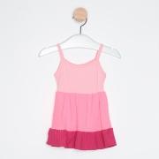 Vestido Bebê Midi Três Marias Alcinha Pink