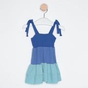Vestido Bebê Três Marias Alcinhas Ajustáveis Azul Royal