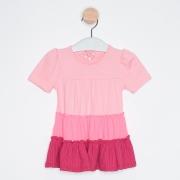 Vestido Bebê Três Marias Pink