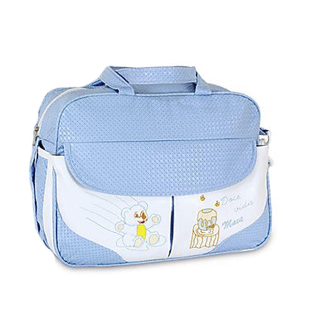 Bolsa Maternidade Bebê Trançado Neve Azul