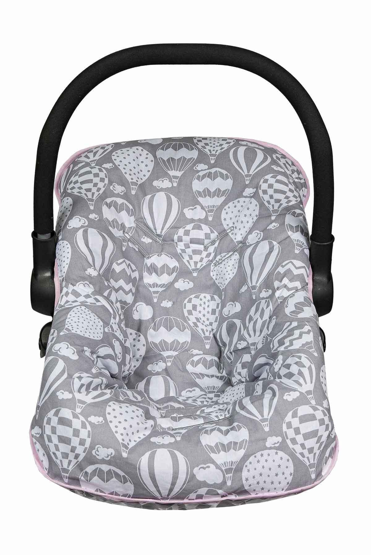 Capa para Bebê Conforto Menina Balão Cinza
