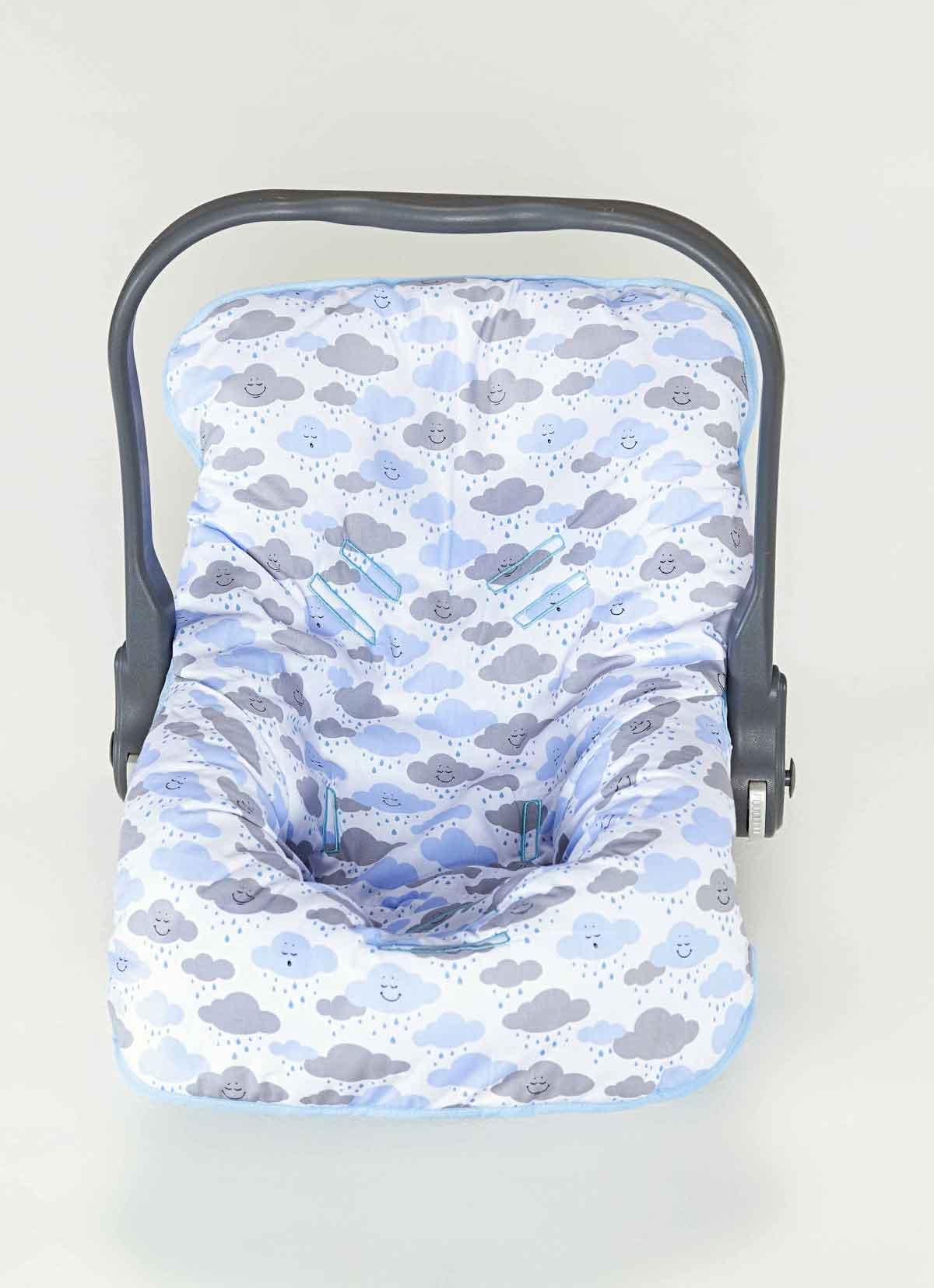 Capa para Bebê Conforto Menino Nuvem Azul