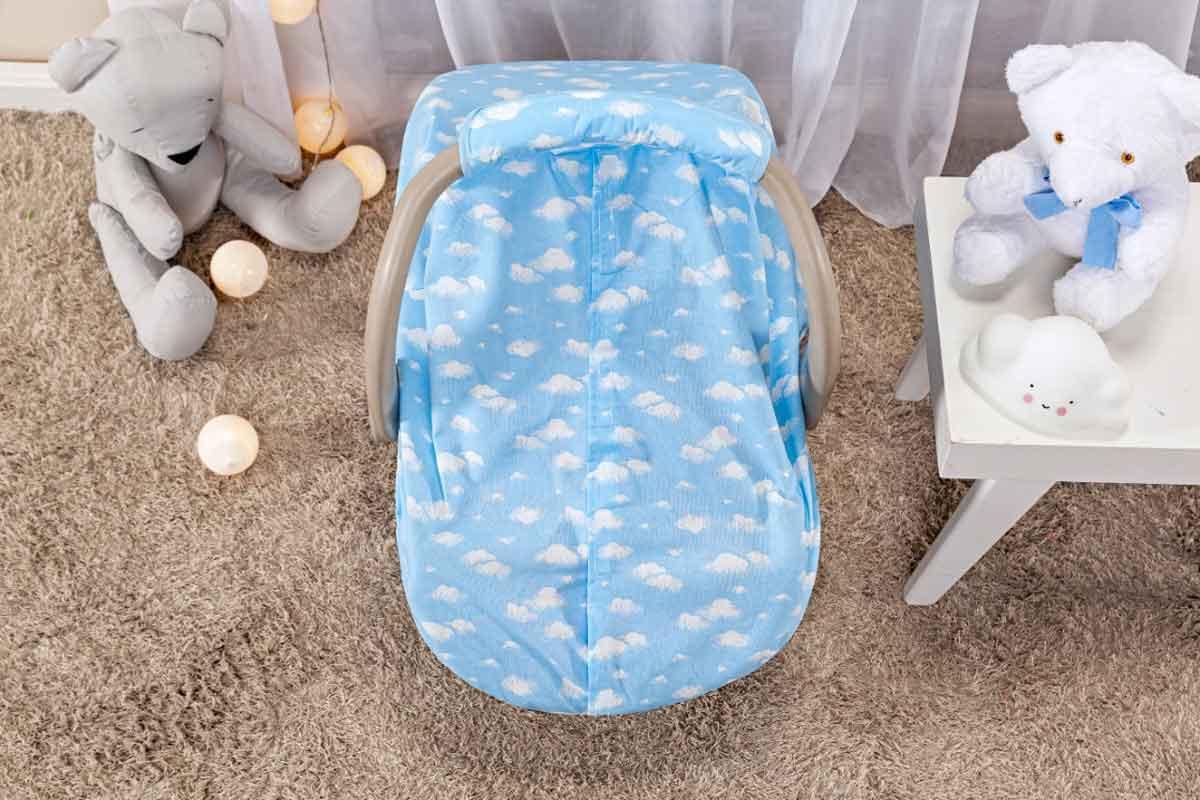 Capota Protetora P/ Bebê Conforto Nuvem Azul
