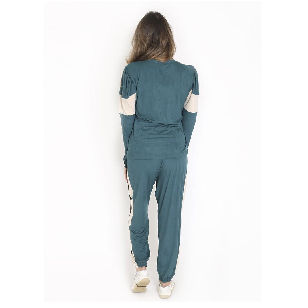 Conjunto Adulto Basic Blusa e Calça Jogger Verde