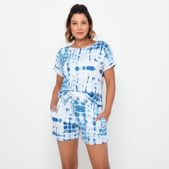Conjunto Comfy Adulto Tie Dye Azul