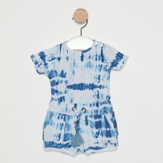 Conjunto Comfy Bebê Tie Dye Azul