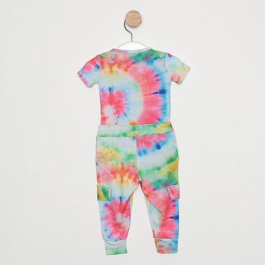Conjunto Comfy Bebê Tie Dye Rosa