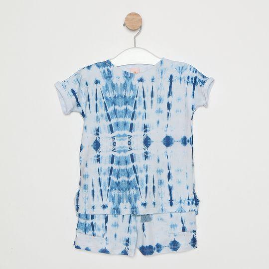 Conjunto Comfy Infantil Tie Dye Azul