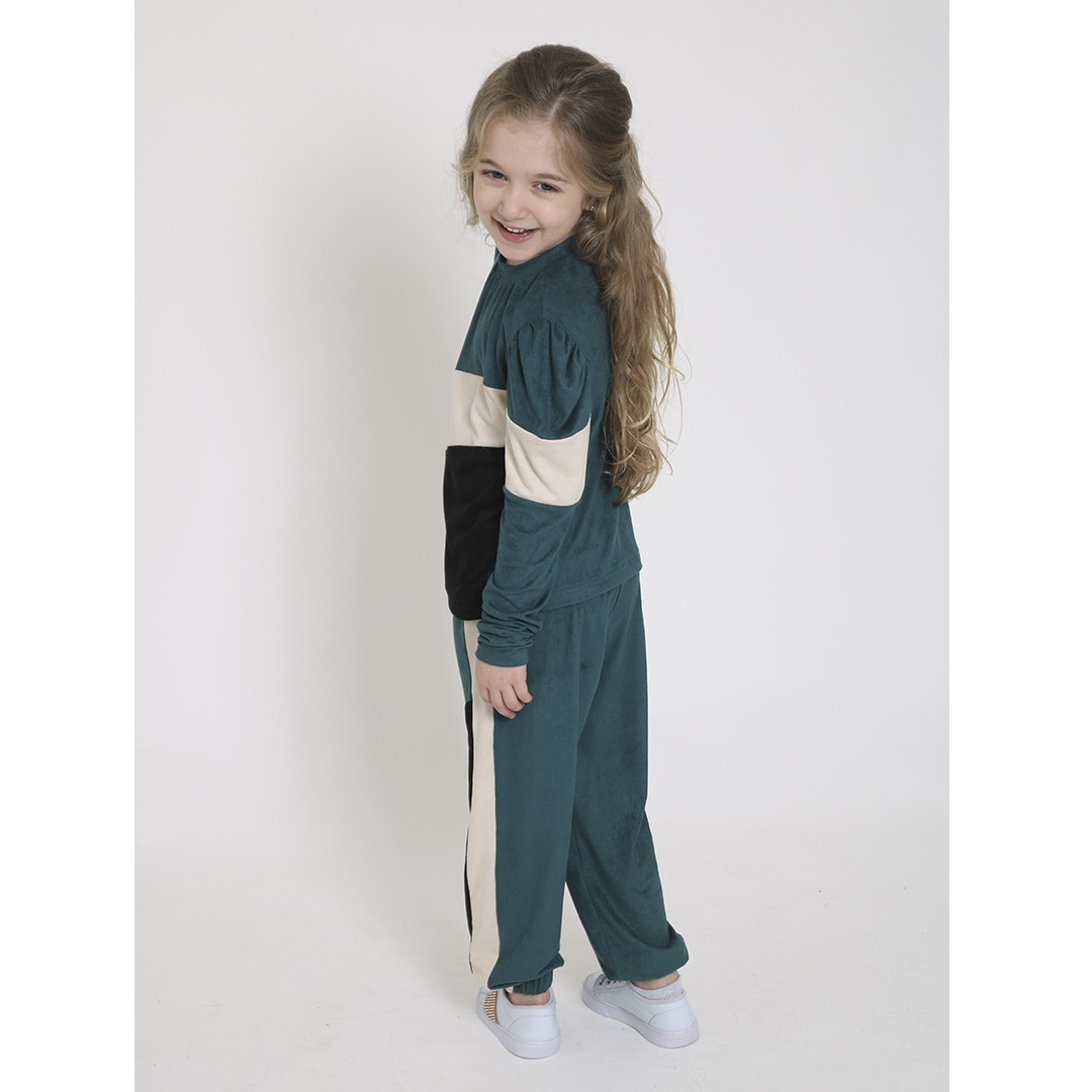 Conjunto Infantil Basic Blusa e Calça Jogger Verde