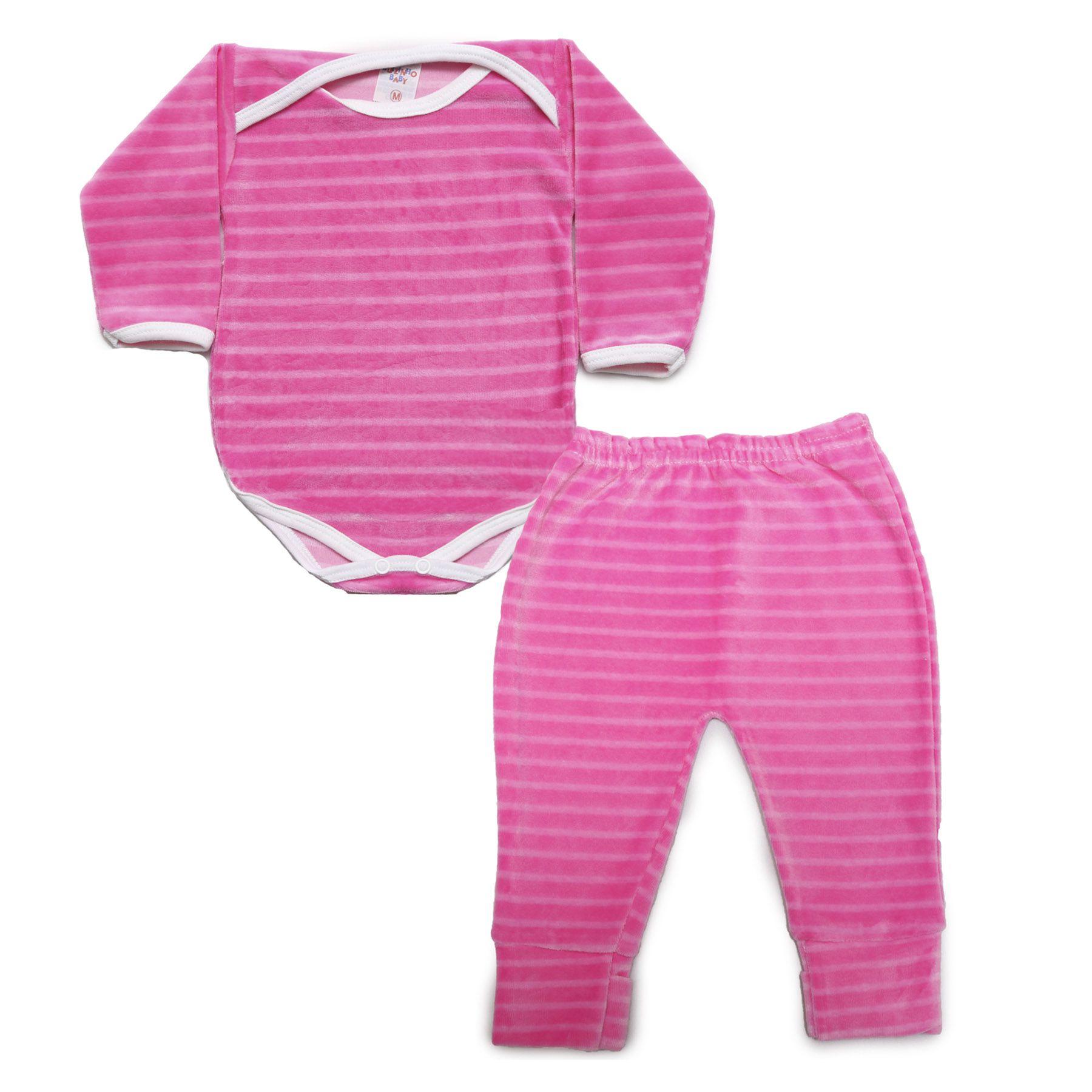 Kit Body Bebê com 2 Peças Sortido em Plush Colorido