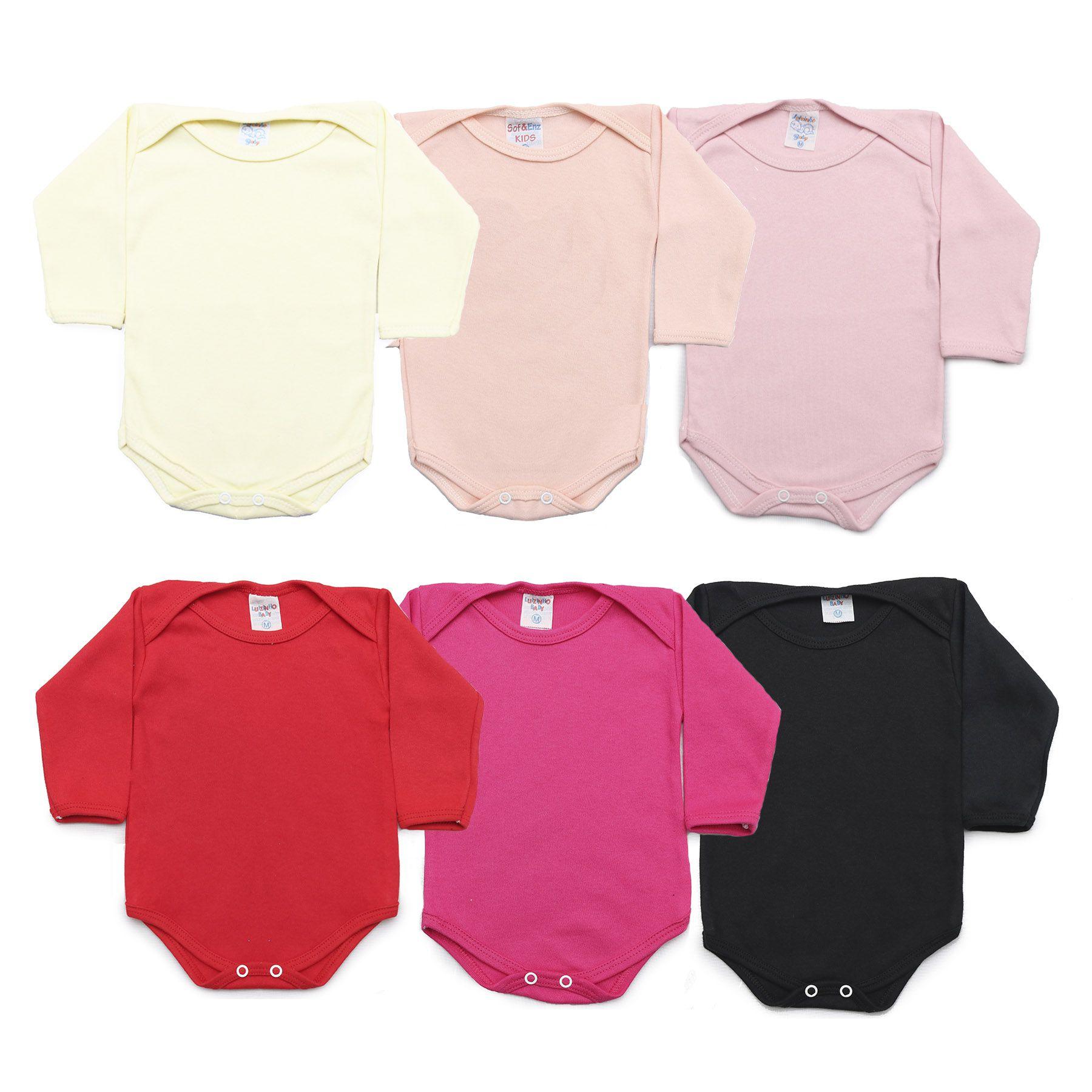 Kit Body Bebê com 6 Peças Menina Colorido