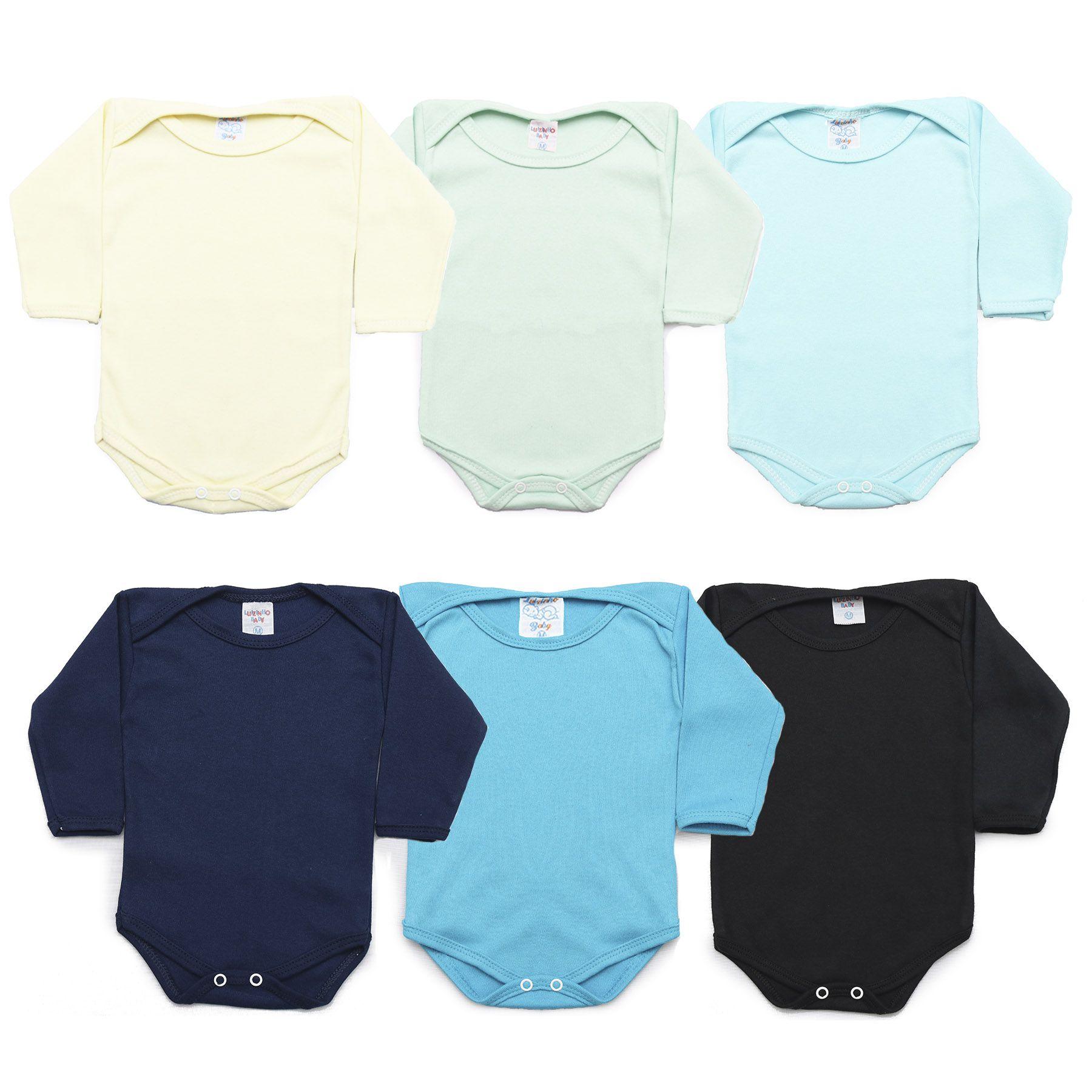 Kit Body Bebê com 6 Peças Menino Colorido