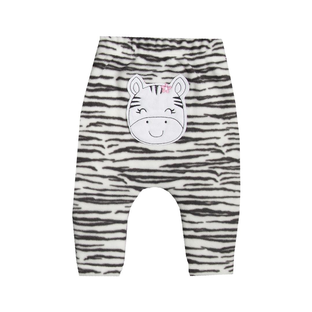 Kit Body e Calça Bebê Menina Zebra Preto e Branco