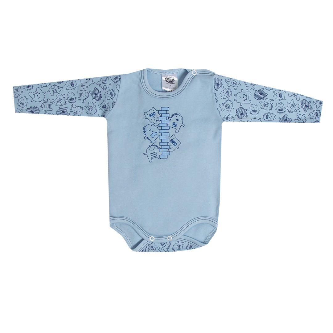 Kit Body e Calça Bebê Menino Azul Claro e Jeans