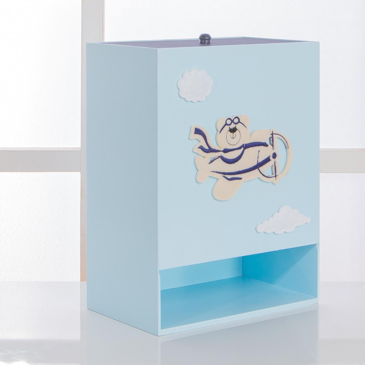 Kit de Higiene Bebê com 7 Peças Aviador Azul