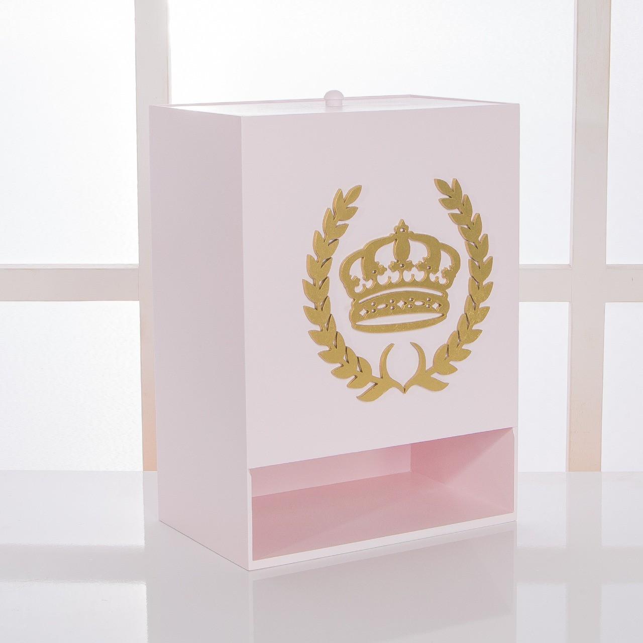 Kit de Higiene Bebê com 7 Peças Coroa Rosa