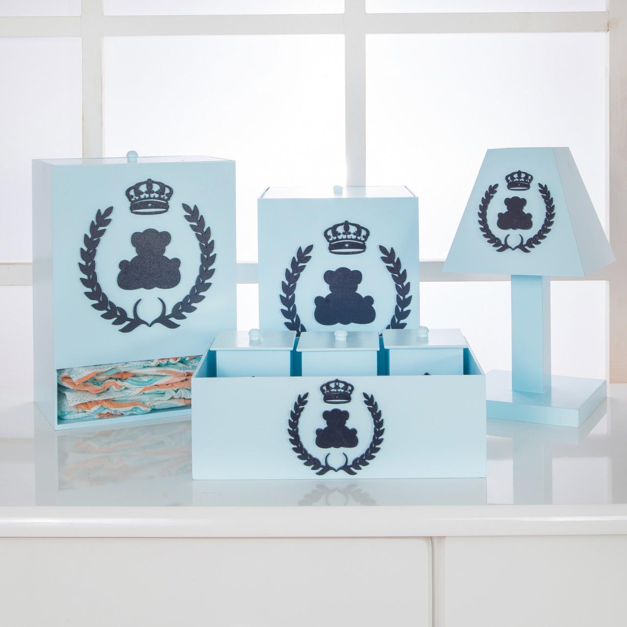Kit de Higiene Bebê com 7 Peças Realeza Azul
