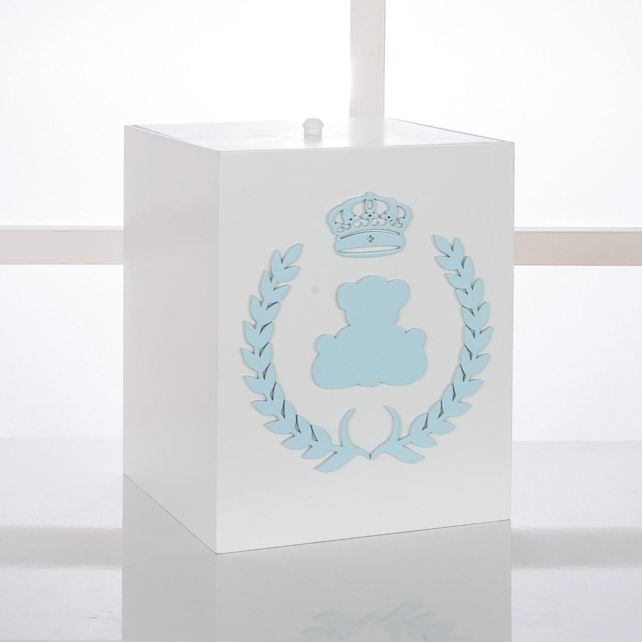 Kit de Higiene Bebê com 7 Peças Realeza Branco e Azul